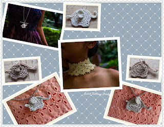 free crochet elephant pendant, Blogaday