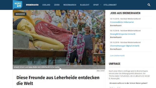 Nord24 Bericht Bremerhavener auf Weltreise