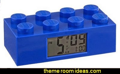 LEGO Kids' Plastic Brick Alarm Clocks  Lego wallpaper  Lego bedroom decor  Lego bedding