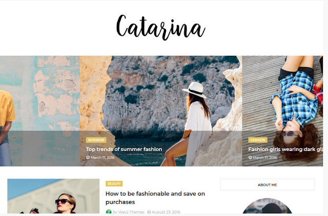 10. Catarina Blogger Template