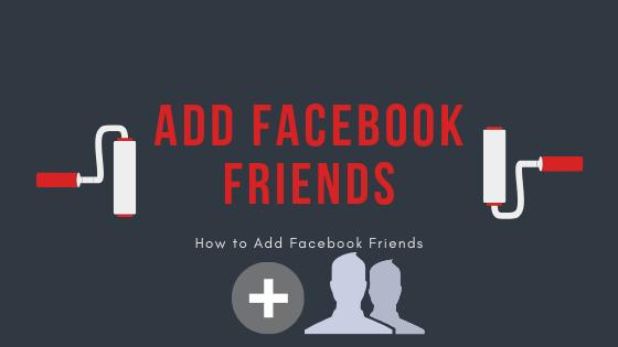 Adding Friends On Facebook<br/>