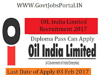 Oil India Limited Recruitment 2017 –HSE Officer Post