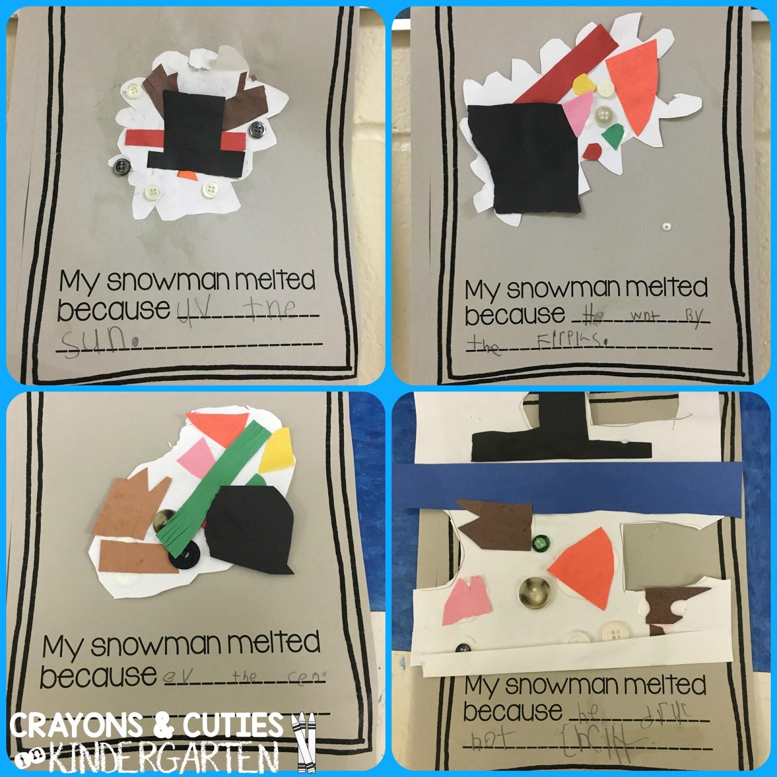 Crayons Amp Cuties In Kindergarten Sneezy The Snowman