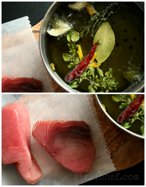 Olive Oil Poached Tuna | www.girlichef.com