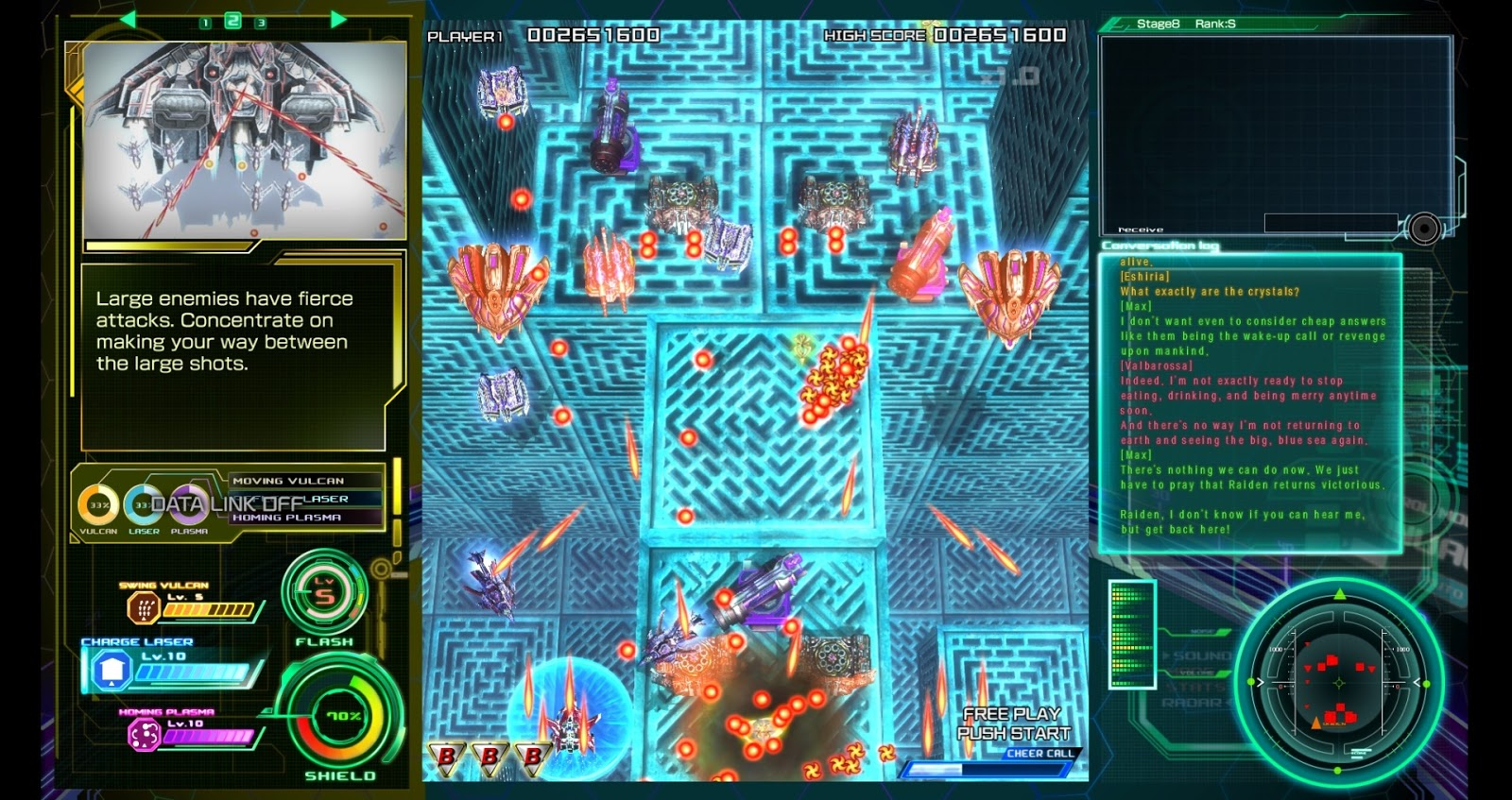 raiden v director s cut the ui is too busy and has unnecessary information