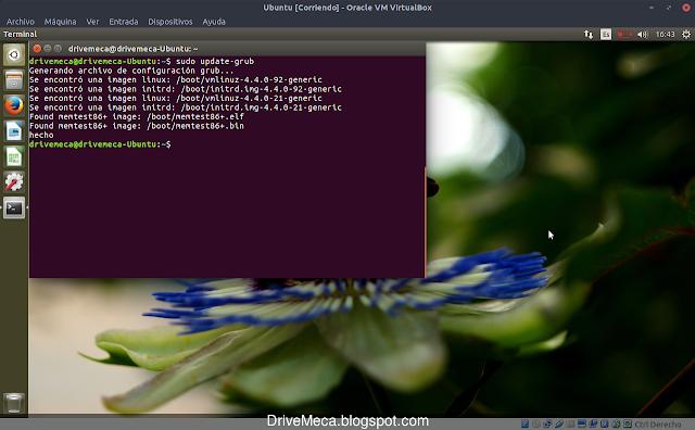 Actualizamos cambios en grub en linux ubuntu