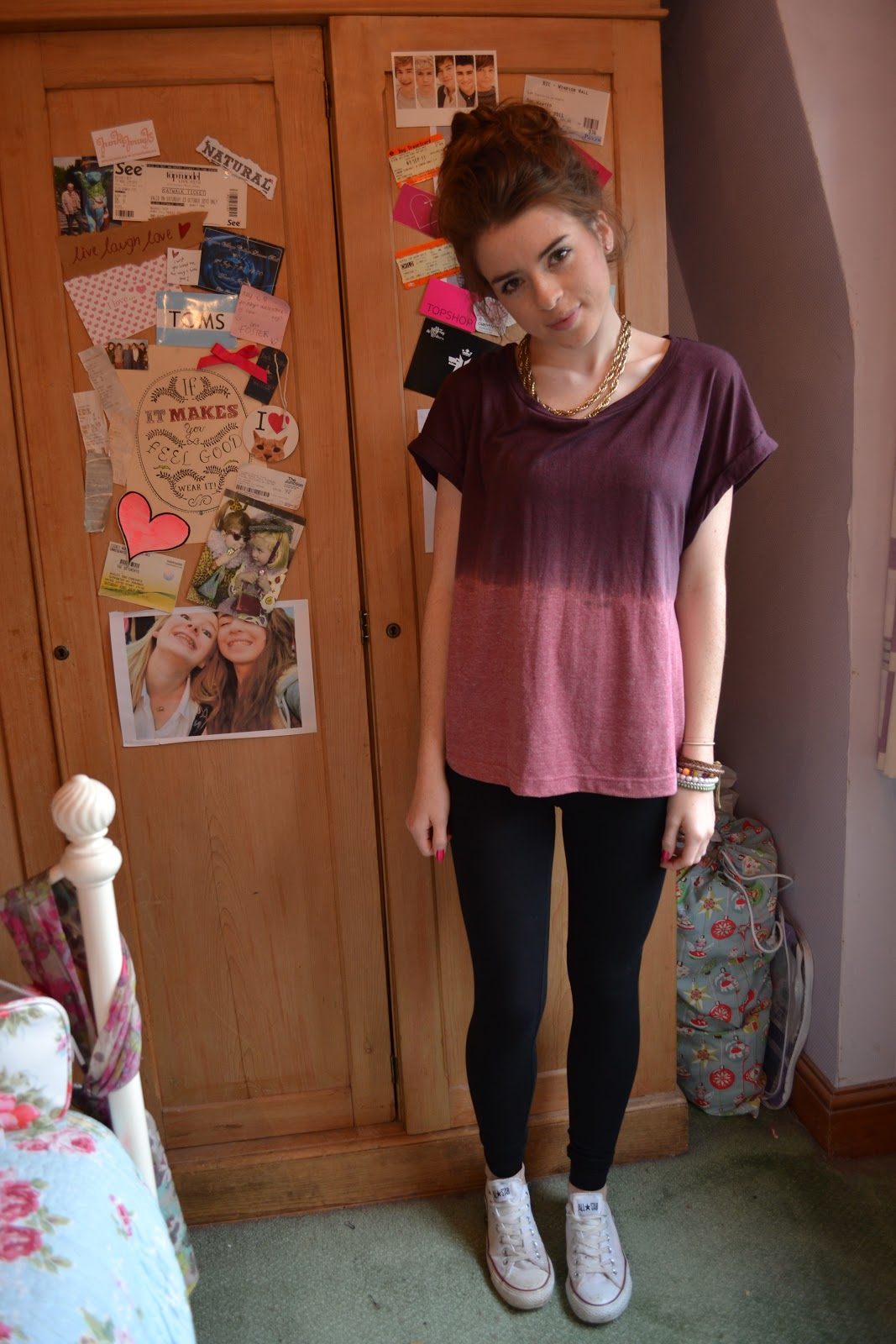 Outfit Leggings And Converse