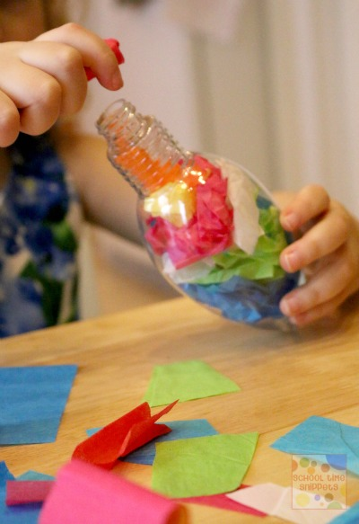 Tissue Paper Ornament for Kids