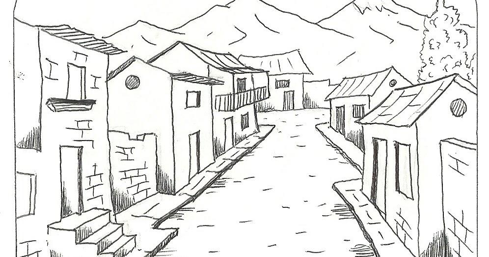 Dibujo De Lineas Paisaje: PUERTAS A LA IMAGINACIÓN: Dibujo Con Línea Blanca