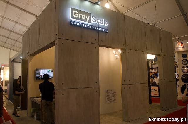 Greyscale Concrete Finishes exhibition booth