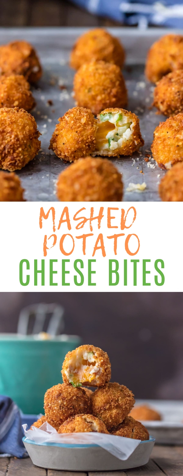 MASHED POTATO CHEESE BITES #potato #appetizer