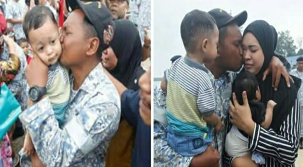 Suasana Kepulangan Anak Kapal KD Perdana Yang Hilang