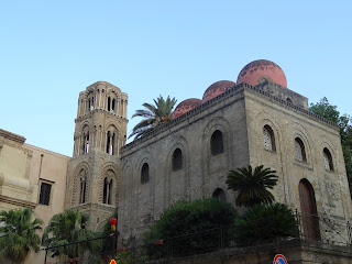 The Church of San Cataldo in Palermo with its spherical red domes