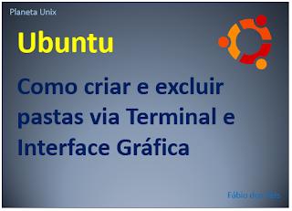 Como adicionar e apagar pastas no ubuntu Linux pelo terminal e GUI