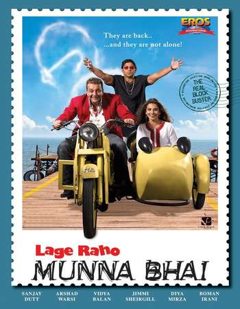 Poster Of Lage Raho Munna Bhai 2006 Hindi 500MB HDRip 720p ESubs HEVC Watch Online Free Download Worldfree4u