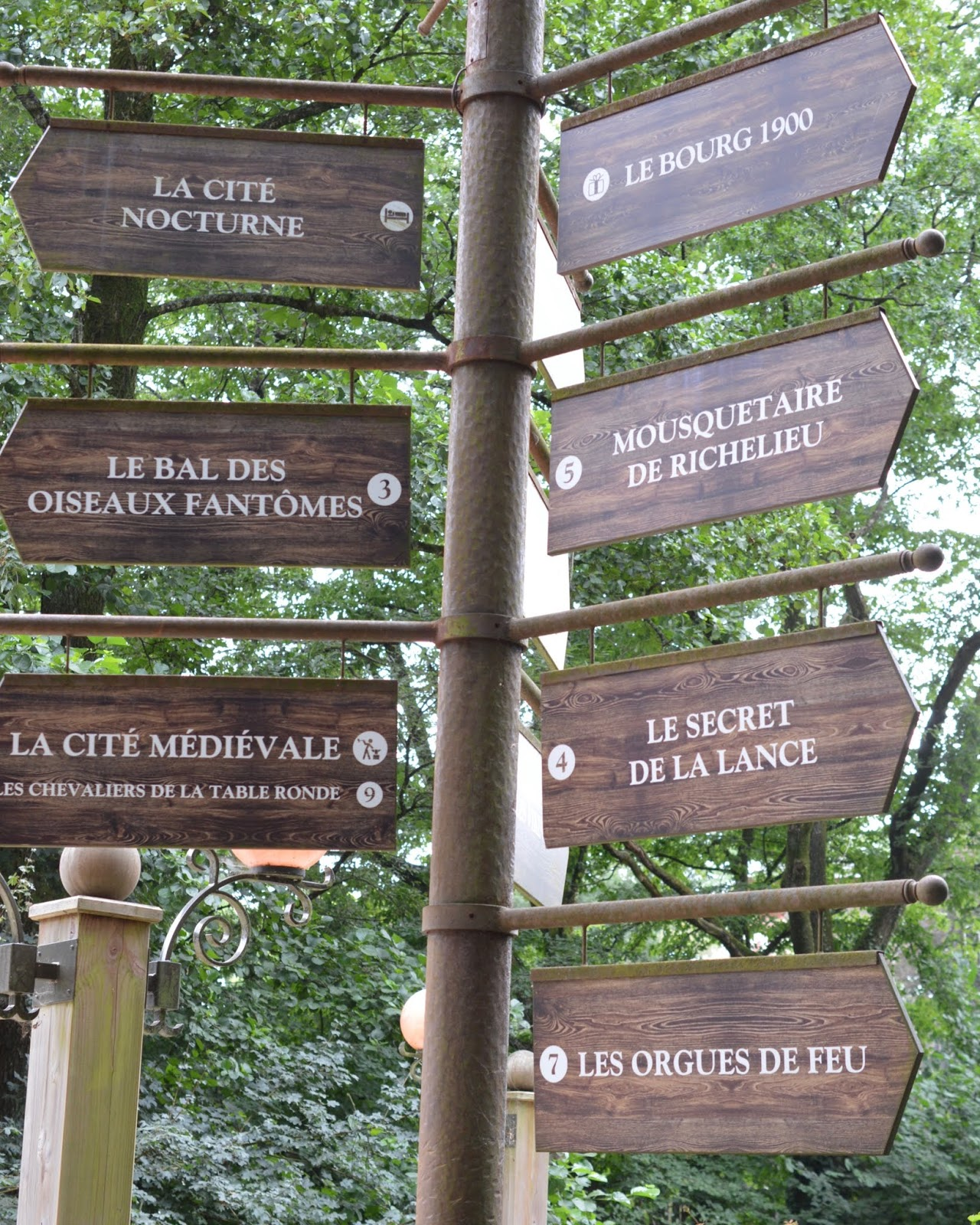 Puy du Fou Theme Park, France - - park signposts