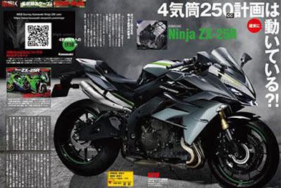 Rendering Kawasaki Ninja ZX25R dari Young Machine