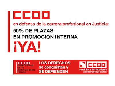 CCOO acusa al Ministerio de Justicia de hacer lo posible para impedir el derecho a la promoción interna