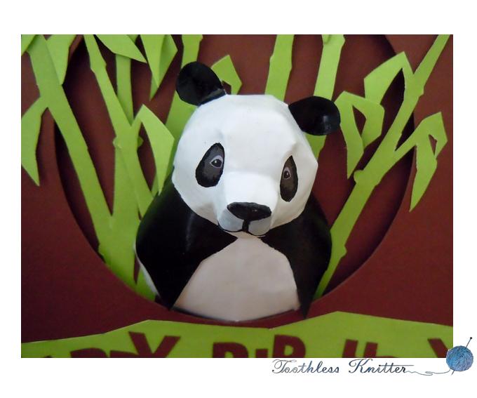 Panda Birthday Card / Kartka Urodzinowa z Pandą