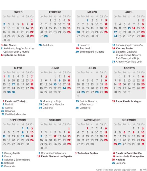Calendario Laboral Ceuta 2019.Seccion Sindical Ccoo Ilunion Seguridad Madrid Calendario Laboral