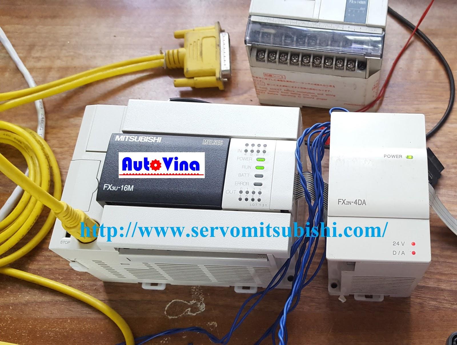 Module chuyển đối tín hiệu số ra analog FX2N-4DA dùng được cho PLC FX3U-16MT