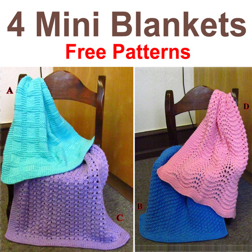 Mini Blankets - Free Patterns