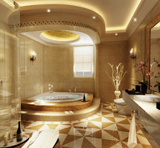 Models And Motifs Of Ceramic Bathroom Floor The Latest Luxury