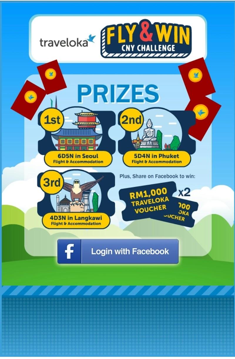 Jom Sertai Traveloka Fly & Win CNY Contest 2018 Untuk Menangi Hadiah Percutian Dan Penerbangan Ke Luar Negara