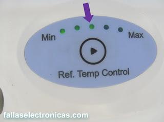 control de frío de nevera lg