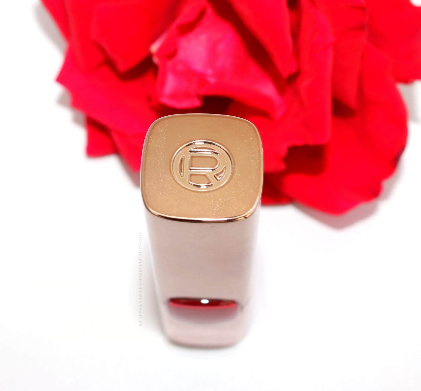 L'Oreal Paris Color Riche Moist Matte Lipstick-Blaze of Red Review/www.rakhshanda-chamberofbeauty.com/Indian beauty blogger