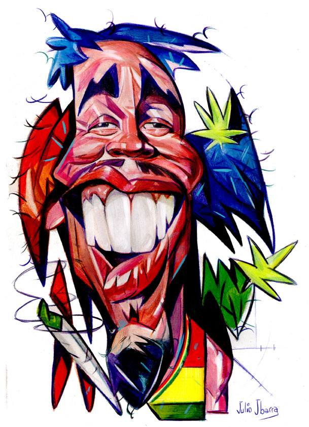 """""""Bob Marley"""" por Julio Ibarra"""