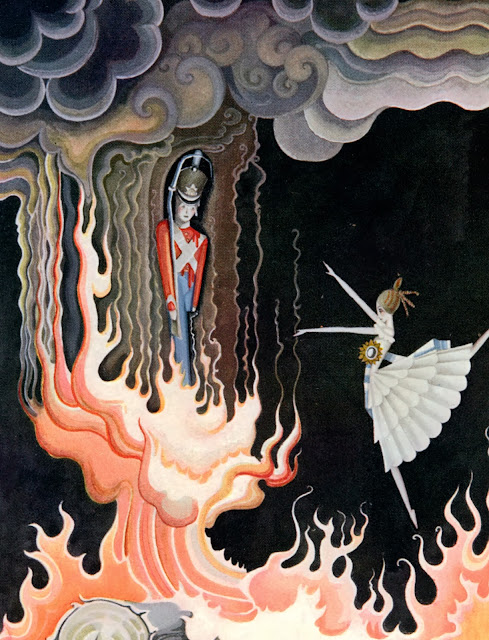 The Steadfast Tin Soldier illustration by renowned Danish artist Kay Nielsen, 1924.