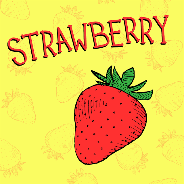 strawberry drawing for children's book