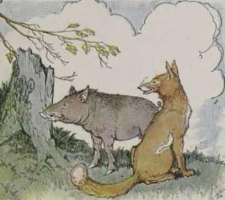 Dongeng babi hutan dan rubah
