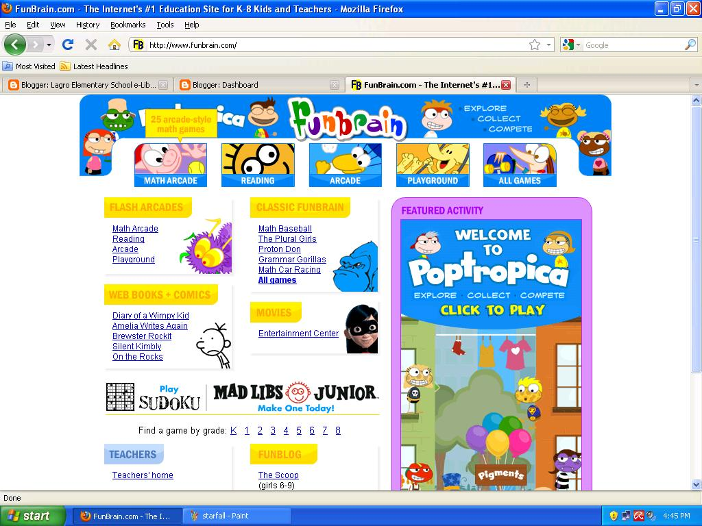 Lagro Elementary School E Library Webliography