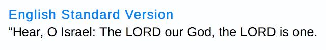 Deuteronomy 6:4.