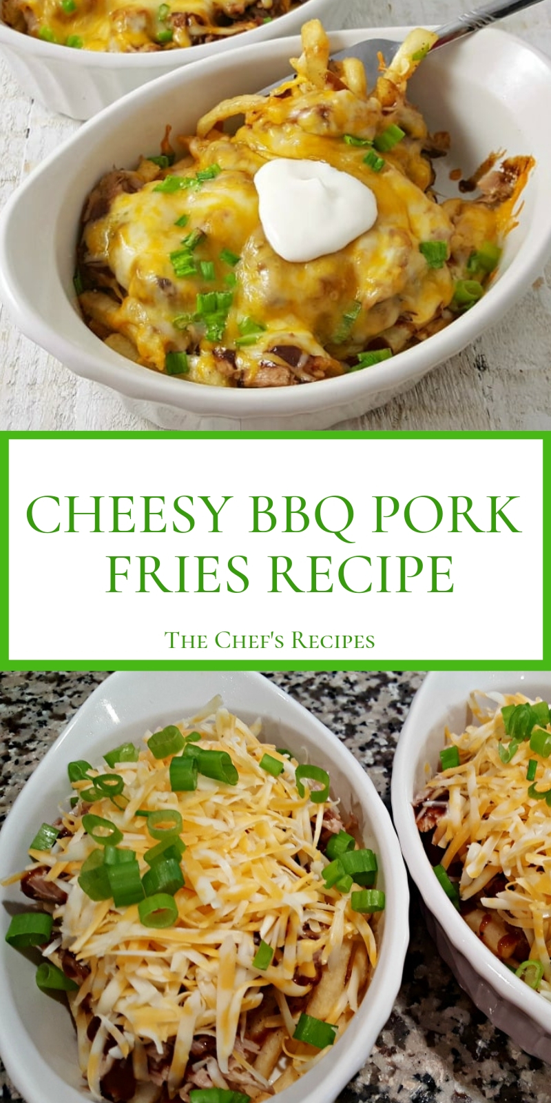 CHEESY BBQ PORK FRIES RECIPE