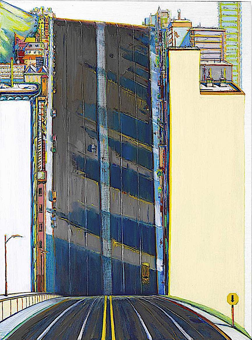 a painting by Wayne Thiebaud