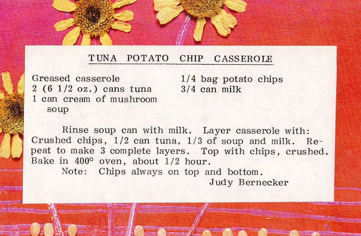 Tuna Potato Chip Casserole (quick recipe)