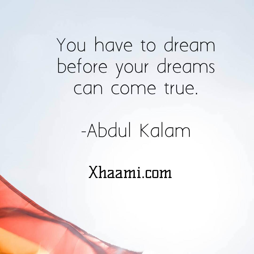 Motivational Quote of Abdul Kalam
