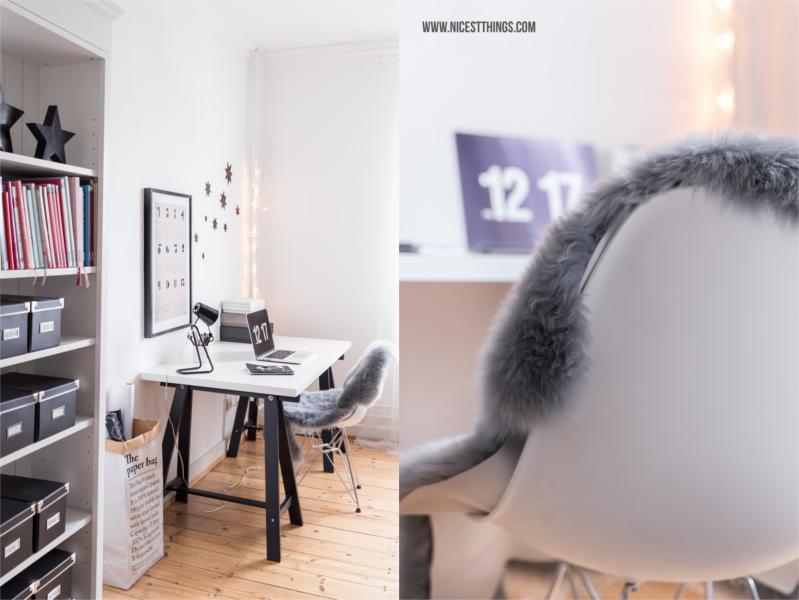 Schreibtisch mit Eames Chair