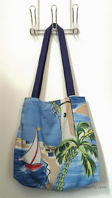 homespun by laura, refashion, refashion tote bag, tote bag, handmade
