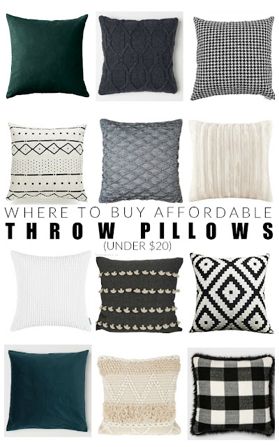 Where to buy affordable throw pillows under $20