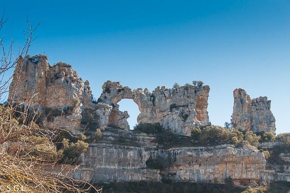 Formaciones rocosas de Orbaneja del Castillo. Burgos
