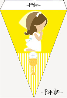 Girl´s First Communion, Free Printable Banner.