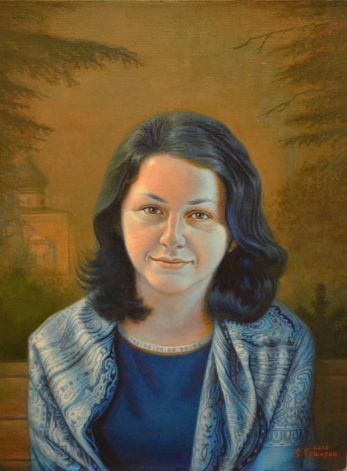 Портрет Анны Муравьёвой - Степан Каширин