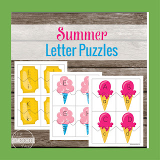 Summer Letter Puzzles