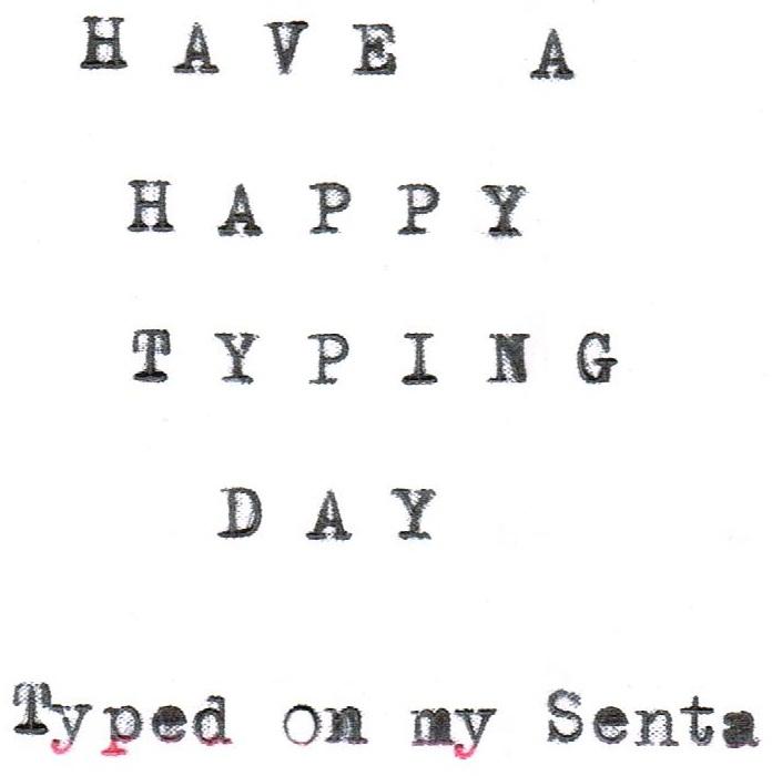 oz.Typewriter: The Senta Portable Typewriter (Model 4)