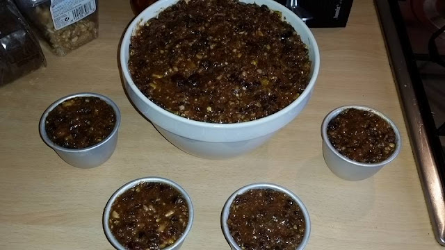 Vanessa and Gill's Instant Pot Pressure Cooker Christmas Pudding - the Christmas Puddings in their basins