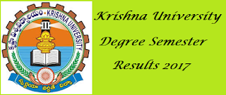 Manabadi Krishna University Degree Semester Results 2017, Manabadi Krishna University Degree Results 2017